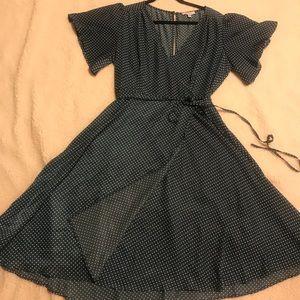 NWT Lucy Paris mock wrap around dress